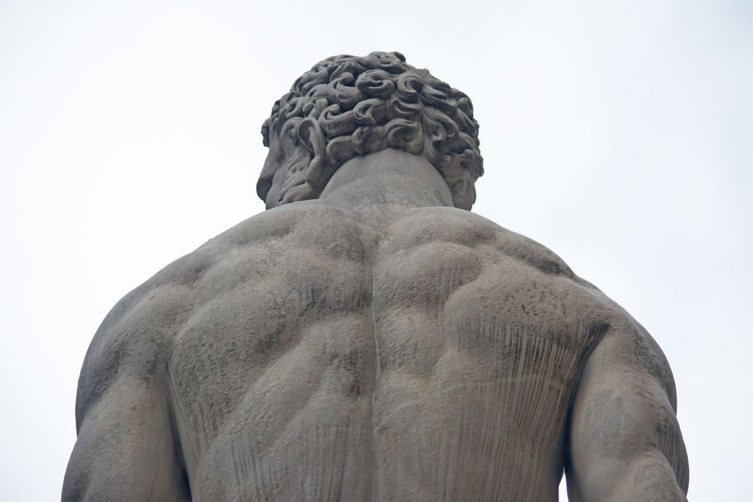 40762281 - detail of hercules statue seen from behind