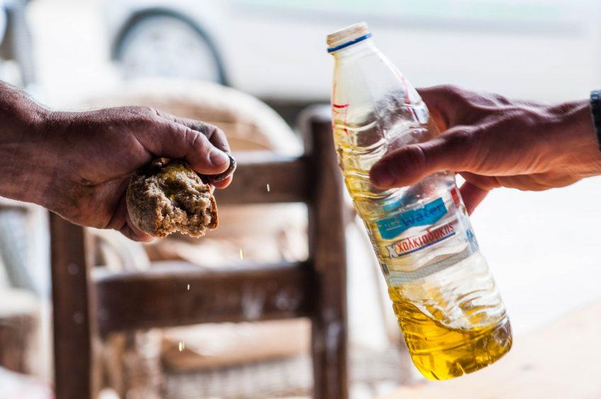 Olijfolie en paksimadi op Kreta
