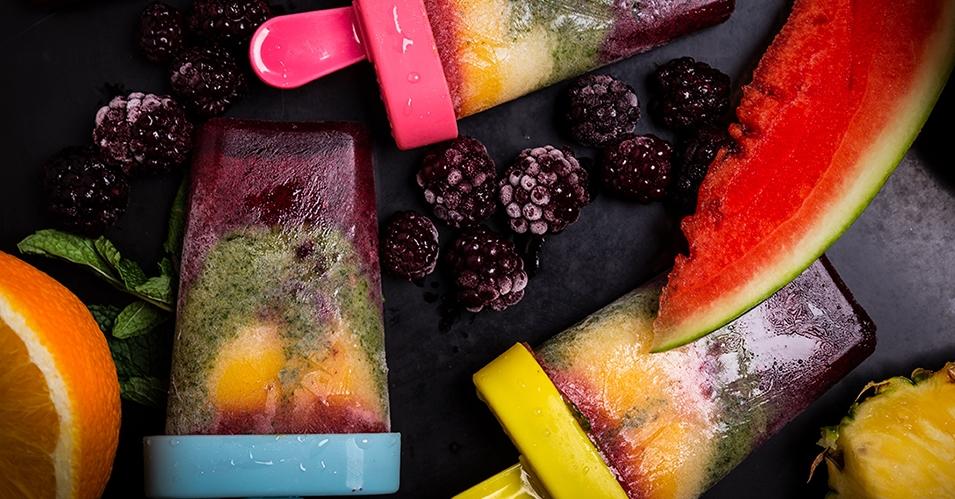Makkelijk recept: Regenboog ijsje met watermeloen! 1