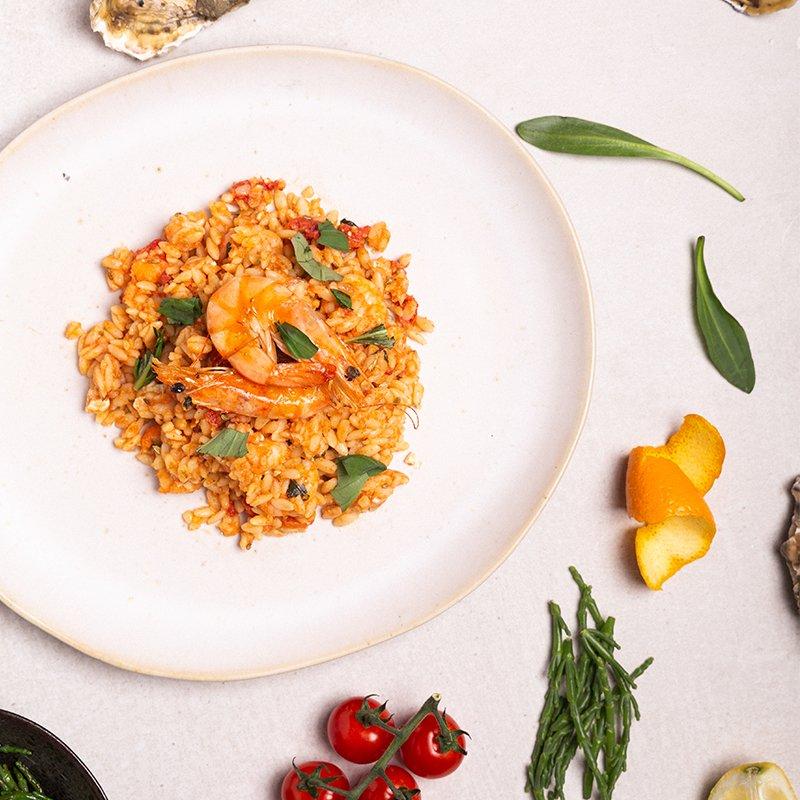 orzo garnalen olijfolie